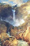 the great falls of reichenbach, switzerland, 1804, turner