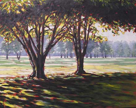 painting trees in oils