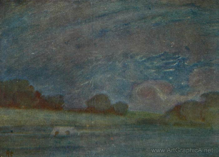 night landscape painting