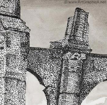 stippling, pen and ink, drawing course online