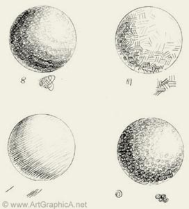 shading spheres, texture and shading