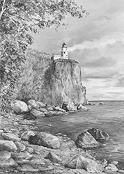 Minnesota Lighthouse, pencil lesson