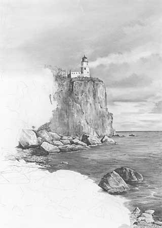 lighthouse and cliff art demo