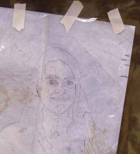 tracing paper, portrait likeness