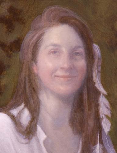 soft underpainting, portrait in classical style