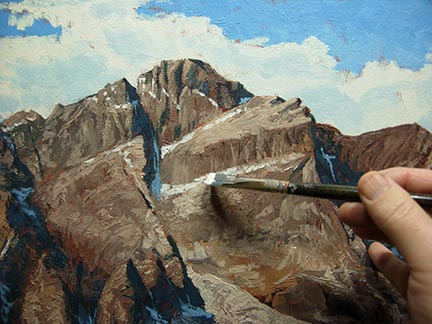 Mountain painting lesson landscape demo for Oil painting lessons near me