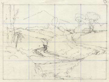 grid for landscape drawing