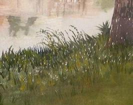 grass by river, watercolor demo