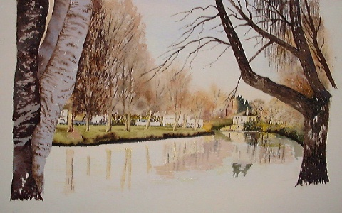 watercolor lessons, nz landscape