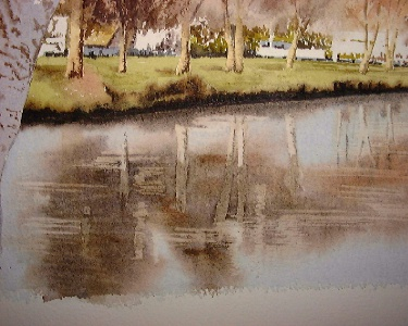 nz christchurch, watercolor