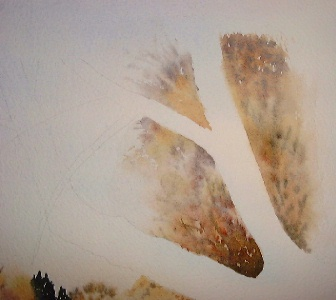 painting trees in watercolor