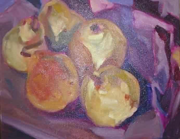 painting a pear, oil painting tutorial, free painting instruction, fruit art