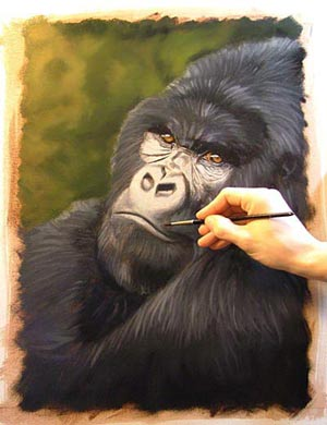 Learn How To Paint A Gorilla Oil Painting Lesson