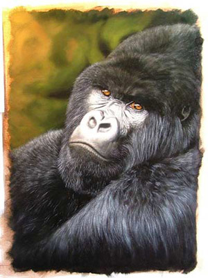 painting gorilla hair