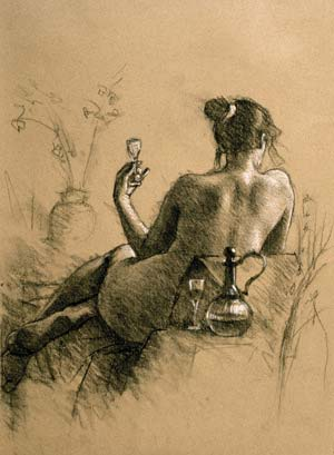 female nude, charcoal drawing, oil painting, painting the female nude