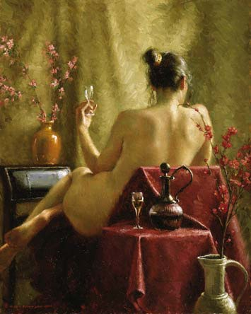 female nude painting, how to paint the female nude, free oil painting lesson