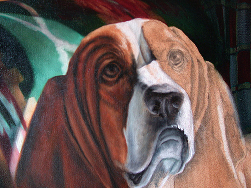 painting dogs in oils