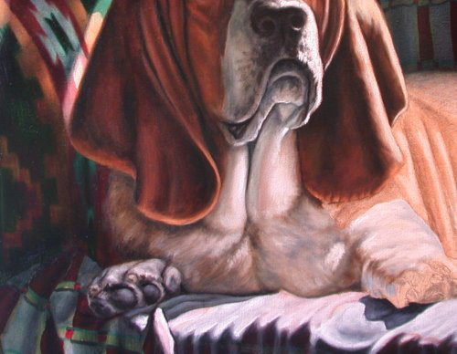 painting basset hounds
