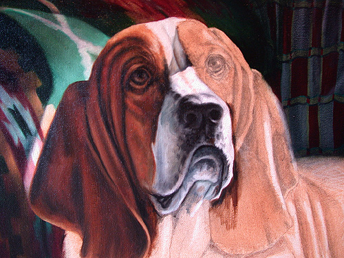 painting a basset hound
