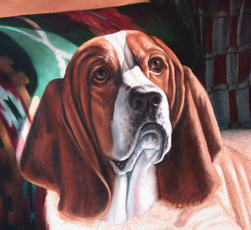 hound painting lesson
