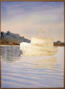 boat in watercolor