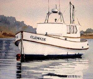 how to paint a boat, watercolor demo