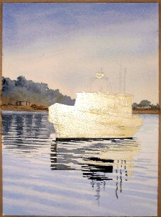 how to paint boats, painting a boat