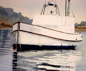 burnt umber, sienna, painting boat