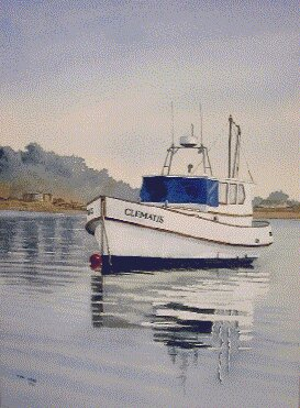new zealand boat, watercolor demonstration