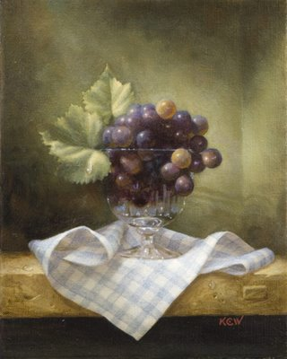 grapes and water droplets