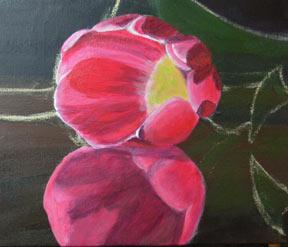 acrílicos, pintura de demonstração