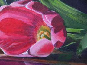 flor acrílico, como pintar com acrílicos