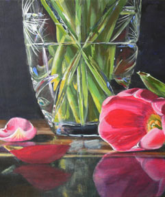 acrylic flowers, art lesson