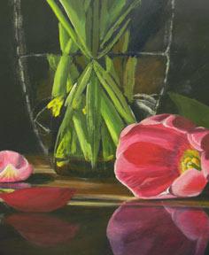 demonstração pintura acrílica, instrução de arte acrílico