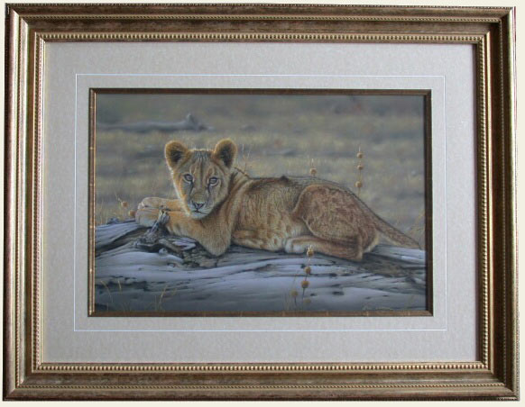 realistic lion cub painting