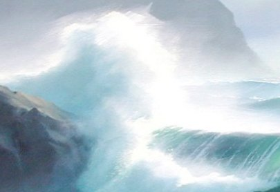 painting waves, surf, ocean art