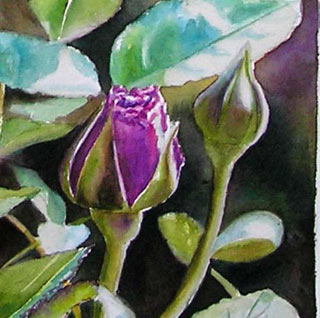 rose art, free watercolor tutorial, how to paint a rose