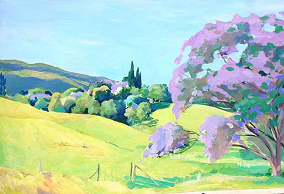 acrylic landscape painting, acrylic tutorials, how to paint a tree, art lessons, free