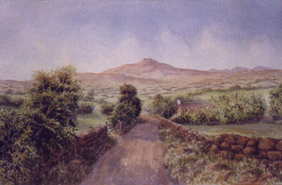 irish mountain watercolor lesson