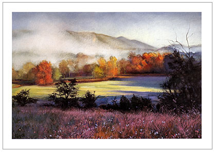 pastel landscape art demo