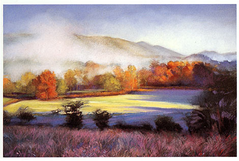 landscapes in pastel, art demonstration online, pastel tutorial