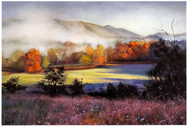 Landscape pastel painting lesson for Oil painting lessons near me