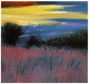 pastel tutorial paisagem, lição de arte livre