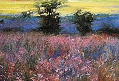 pastel paisagem
