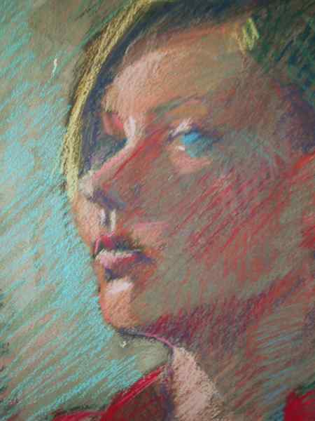 painting portraits in pastels