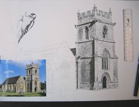 drawing a church