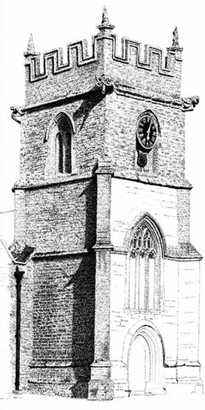 st peters church, pen and ink