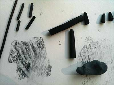 how to erase charcoal, erasing charcoal, art lesson