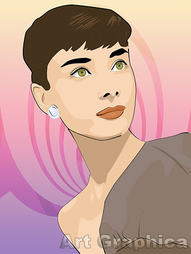 AUDREY HEPBURN art print, canvas, limited edition signed