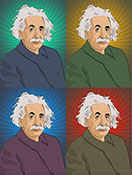 Albert Einstein limited edition print, pop art canvas